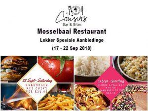 Mosselbaai Restaurant Spesiale Aanbiedinge