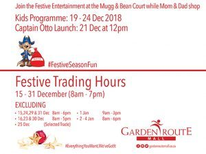 Festive Season Fun at the Garden Route Mall